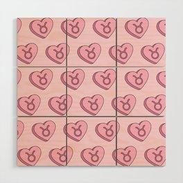 Taurus Candy Hearts Wood Wall Art