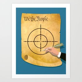 The President Has Constitutional Power To Target And Kill U.S. Citizens Abroad Art Print