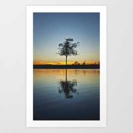 Simple and Alone  Art Print