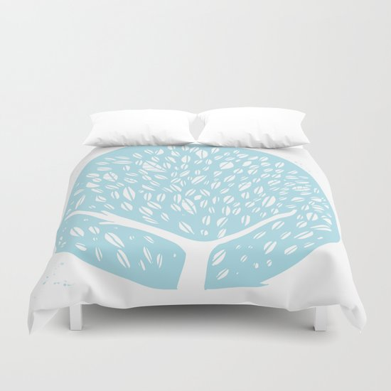 Tree of life - baby blue Duvet Cover