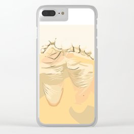 FEET I (Abstract) Clear iPhone Case