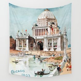 Vintage 1893 Chicago World's fair expo Wall Tapestry
