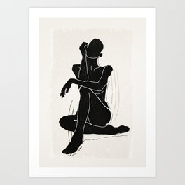 Nude woman 3 Art Print
