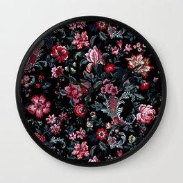 Flowers Power Wall Clock