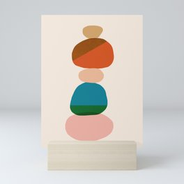 Abstraction_Rocks_Balance_Minimalism_001 Mini Art Print