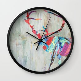 Rhizome Deer Wall Clock