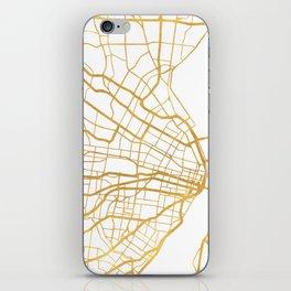 ST. LOUIS MISSOURI CITY STREET MAP ART iPhone Skin