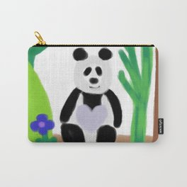 It's a Panda's World of Love Carry-All Pouch