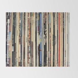 Classic Rock Vinyl Records Throw Blanket