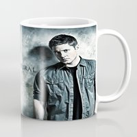 dean winchester Mugs featuring Supernatural - Sam & Dean Winchester by ElvisTR