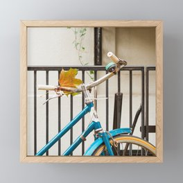 Brooklyn in October - Bicycle Photography Framed Mini Art Print
