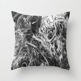 Grunge Galaxy Waves Pattern Throw Pillow