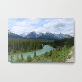 Morant's Curve - Bow Valley Parkway Metal Print