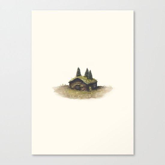 Overgrown - Cabin Canvas Print