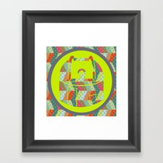 retro pattern and observatory 2 Framed Art Print