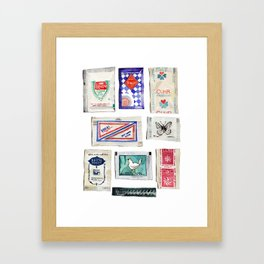 Sugar Collection Framed Art Print