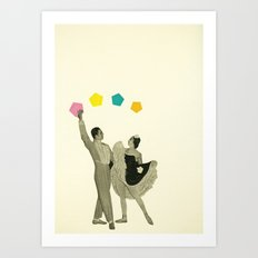 Throwing Shapes on the Dance Floor Art Print