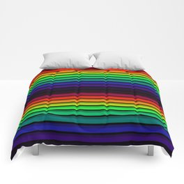 Spectrum - Rainbow Stripes - Colorful - Manafold Art Comforters