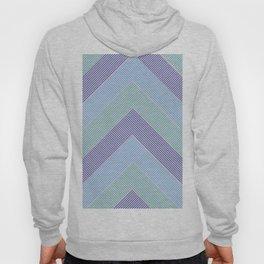 Chevron Zigzag Stripes Retro Blue Lines Geometrical Modern Abstract Boho Hoody