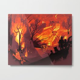 Firepit Metal Print