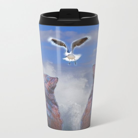 Smiling Bride2 Metal Travel Mug