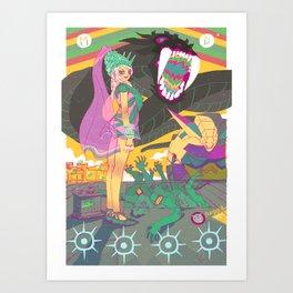 Black Snake Art Print