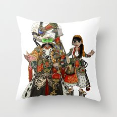 Cyber Sultan and Sultana.  Throw Pillow