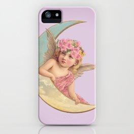 Victorian Moon Angel iPhone Case
