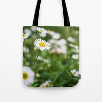 daisies Tote Bags featuring Daisies by Michelle McConnell