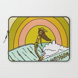 spread sunshine lady slide rainbow surf Laptop Sleeve