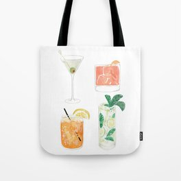 Colorful cocktails Tote Bag