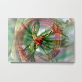 Spring Plant Energy Metal Print