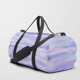Ultra Violet Watercolor Layers Duffle Bag