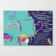 Moroccan Green Tea Recipe Canvas Print