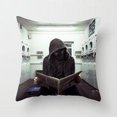 Washing Clothes Throw Pillow