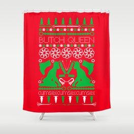 2015 BQ Ugly Sweatshirt (Festive) Shower Curtain