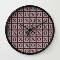xoxo Wall Clocks featuring XOXO by LLL Creations