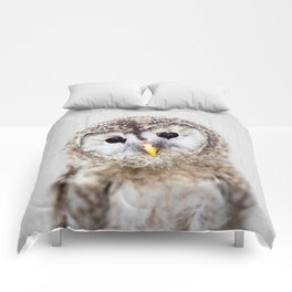 Baby Owl - Colorful Comforters