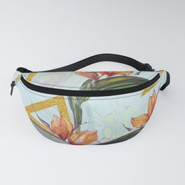 Floral Gold Triangle #society6 #buyart #homedecor Fanny Pack