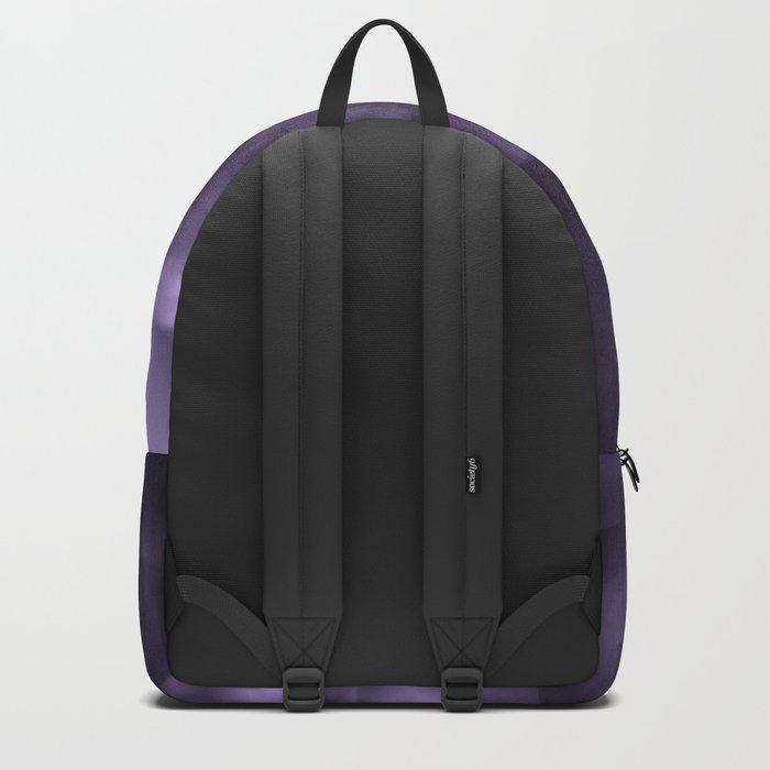 Purple abstract painting. Backpack