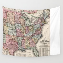 Vintage United States Map (1860) Wall Tapestry
