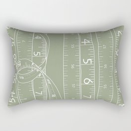 Fashion Measuring Tape - Sage Rectangular Pillow