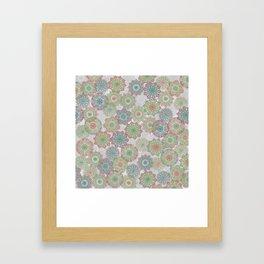 Doily Delight Crochet Watercolor Framed Art Print