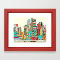 Minneapolis city  Framed Art Print
