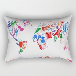 world map music 3 Rectangular Pillow