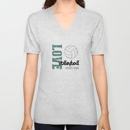 Love Volleyball Street Style Unisex V-Neck