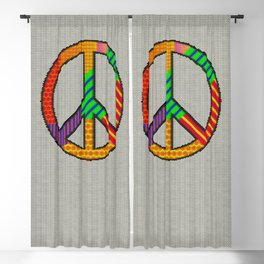 Knitting Peace Blackout Curtain