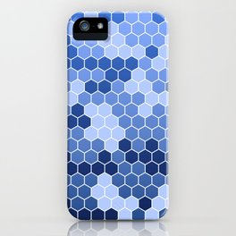 Honeycomb Blue Pattern   Geometric Shapes   Home Decor   Sapphire   For Him   For Her iPhone Case