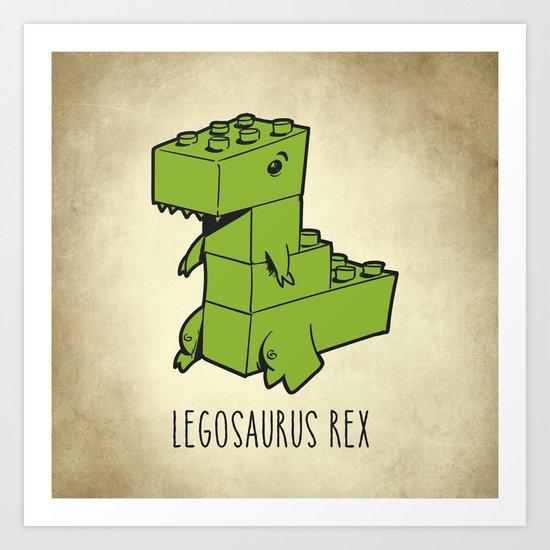 Legosaurus Rex Art Print