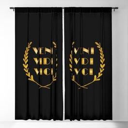 Veni Vidi Vici Blackout Curtain